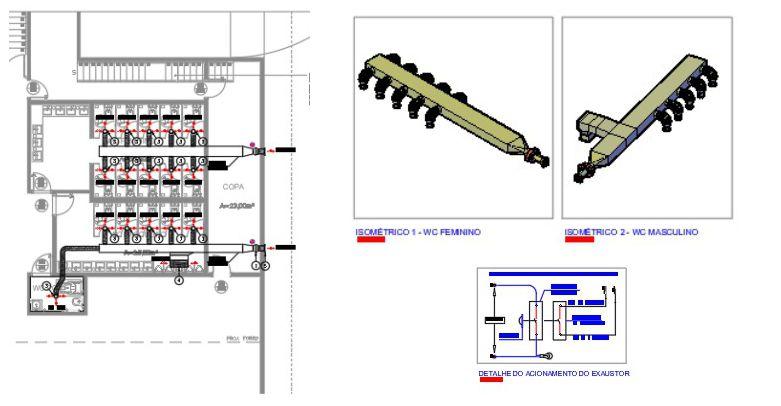 Projetos de ventilação e exaustão para banheiros e lavabos